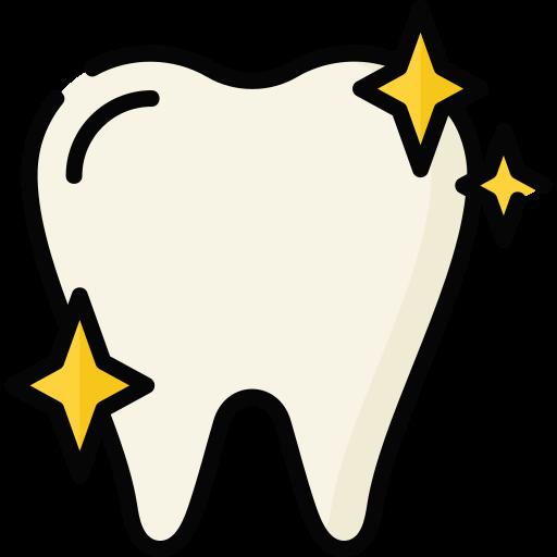 bild på vita tänder